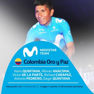 MOVISTAR TEAM PARA LA COLOMBIA ORO Y PAZ